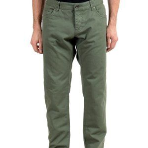 Dolce & Gabbana Olive Green Straight Leg Jeans